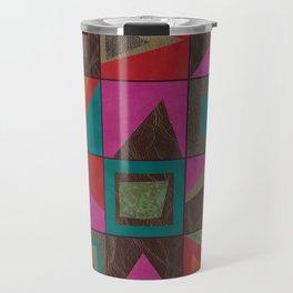 squares of colors and shreds Travel Mug