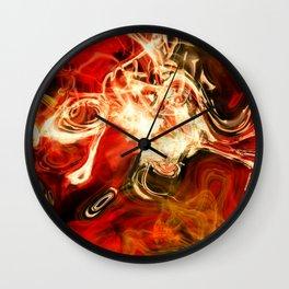 Red smoke background Wall Clock