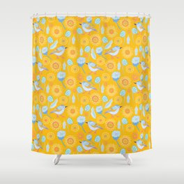 Bird in the Bush Shower Curtain