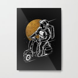 Astro Scooter Metal Print