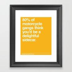 Delightful Sidecar Framed Art Print