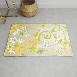 Flowers wall paper 2 Rug