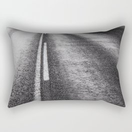From Here to Eternity; the Road up Ahead of You black and white photography - photographs Rectangular Pillow