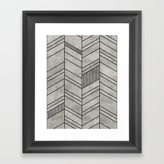 Concrete Chevron Pattern by zoltanratko