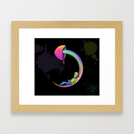 Night Mushroom Framed Art Print