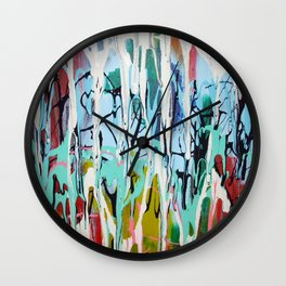 Paint Drip Wall Clock