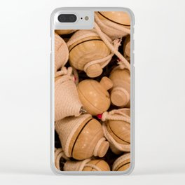 Whipping top Clear iPhone Case