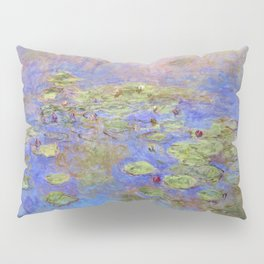 Water Lillies - Claude Monet (indigo blue) Pillow Sham