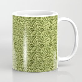 Green Zig-Zag Knit Coffee Mug