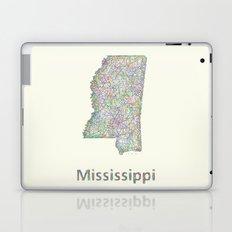 Mississippi map Laptop & iPad Skin