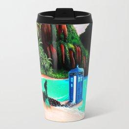 Tardis With Beauty Mermaid Travel Mug