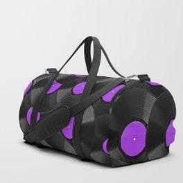 Vinyl Records Pattern (Purple) Duffle Bag
