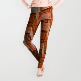 Architectural Abstract in Red Leggings