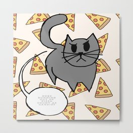 Fang and his pizza Metal Print