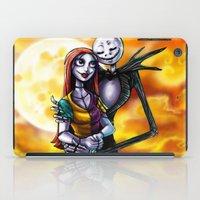jack skellington iPad Cases featuring Jack Skellington With Sally Figurine by Andrian Kembara