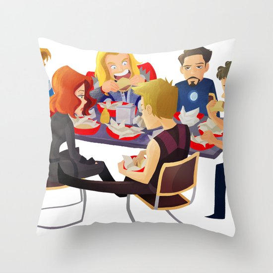 Avengers- Shawarma Throw Pillow