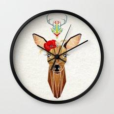 biche oh ma biche ! Wall Clock