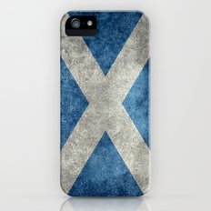 Flag of Scotland, Vintage Retro Style iPhone (5, 5s) Slim Case