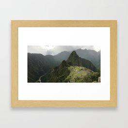 Machu Picchu - Panoramic Framed Art Print