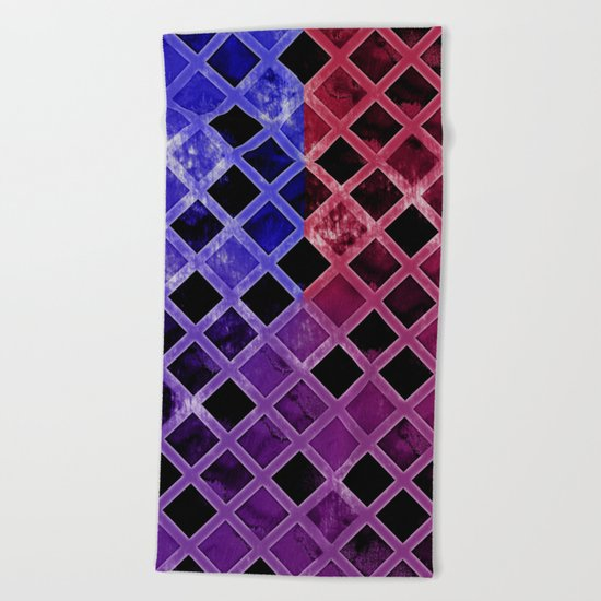 Abstract Geometric Background #5 Beach Towel