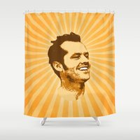jack nicholson Shower Curtains featuring Nicholson by Durro