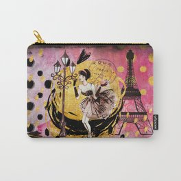 Beautiful fashion girl in Paris - Shopping at the Eiffel Tower Carry-All Pouch