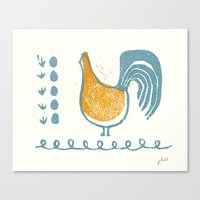 swedish Canvas Prints featuring Swedish Hen by Chet and Dot