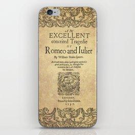 Shakespeare, Romeo and Juliet 1597 iPhone Skin