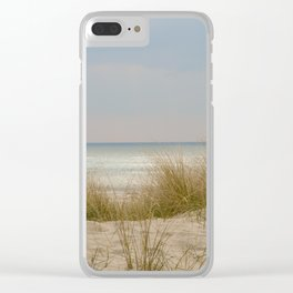 view of the North Sea from the dunes Clear iPhone Case