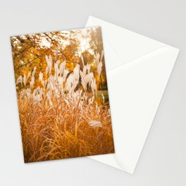Detail of Miscanthus ornamental grass Stationery Cards