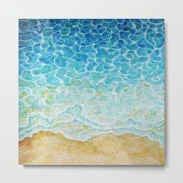 Watercolor Sea G564 Metal Print