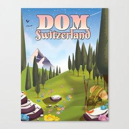 Dom Switzerland Landscape poster. Canvas Print