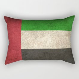 Old and Worn Distressed Vintage Flag of United Arab Emirates Rectangular Pillow