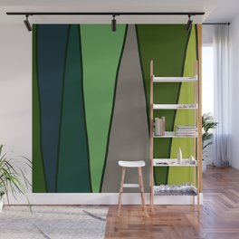 Green Abstract Pattern Turtle Wall Mural