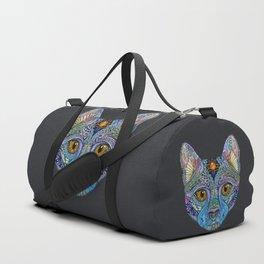 Mystic Psychedelic Cat Duffle Bag