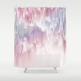 Falling Shades of purple and pink Glitch pattern Shower Curtain