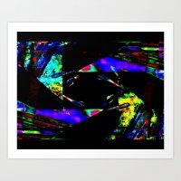 feedback pinwheel Art Print