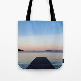 Sunset on the Dock Tote Bag