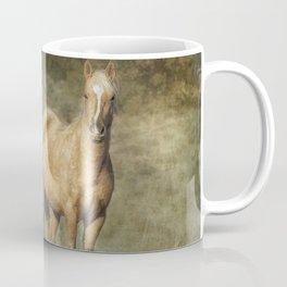 Young Palomino Bachelor Stallion Coffee Mug