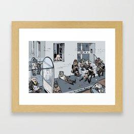 Ball-addicted dogs Framed Art Print