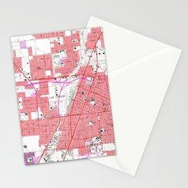 Vintage Map of Las Vegas Nevada (1967) 2 Stationery Cards