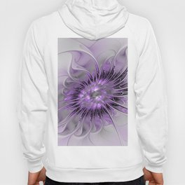 Lilac Fantasy Flower, Fractal Art Hoody
