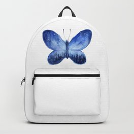 Blue Galaxy Butterfly Backpack