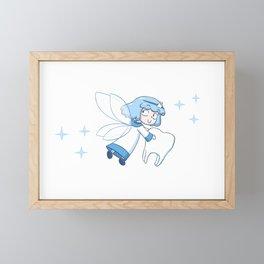 Tiny Tooth Fairy (blue) Framed Mini Art Print