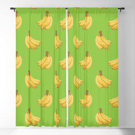 a pattern of bananas Blackout Curtain