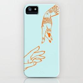 Henna hands iPhone Case