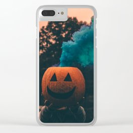 Pumpkin spiced Clear iPhone Case
