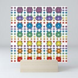 Chakra's pattern Mini Art Print