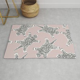 LEOPARD HIDE PATTERN ROSE DUST Rug