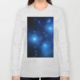 "The Pleiades (""The Seven Sisters"") (NASA/ESA/Palomar Observatory) Long Sleeve T-shirt"